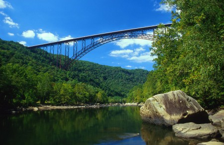 View of the New River Gorge Bridge National River